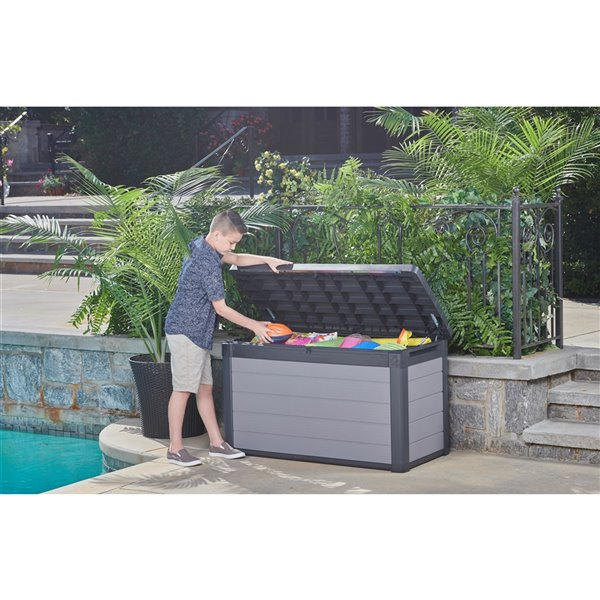 Keter Premier Deck Box - 100-gal. - Resin - Grey
