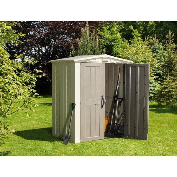 Keter Factor Garden Shed - 6-ft x 3- ft - Resin - Beige/Tan