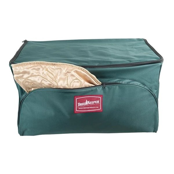 Northlight 3-Tray Fabric Lined Christmas Ornament Storage Bag - Green