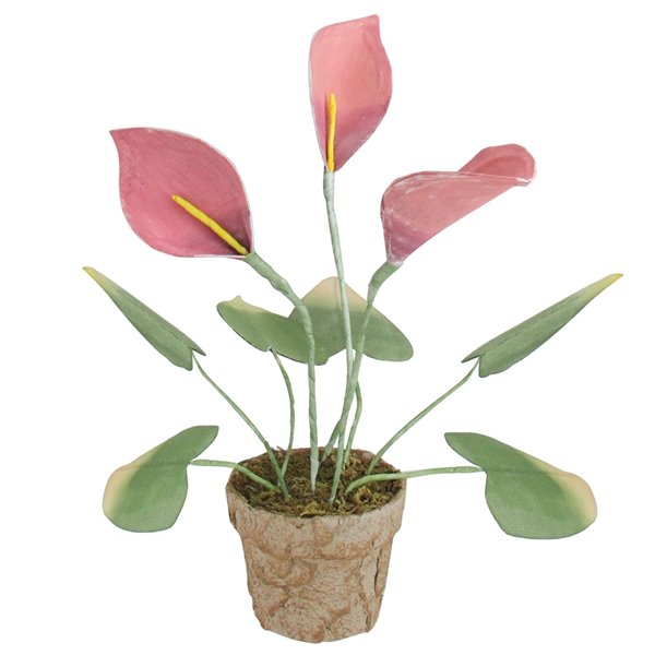 Northlight Decorative Calla Lily Artificial Christmas Plants - 19-in - Pink and Green