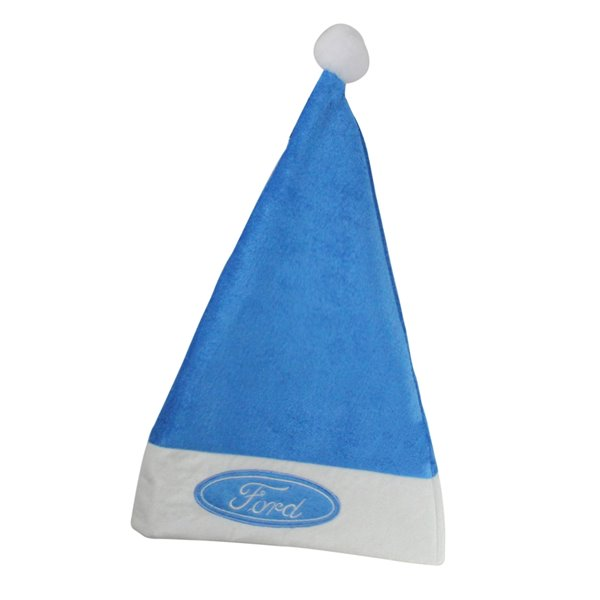 Northlight Santa Unisex Ford Adult Christmas Hat Costume Accessory - Blue and White