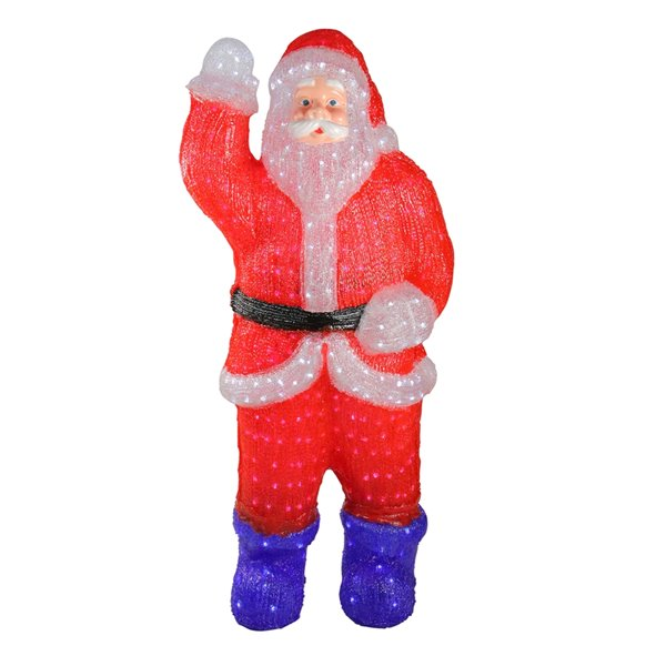 Northlight Lighted Commercial Grade Santa Claus Outdoor Decor - 3.75-ft - Red and Blue