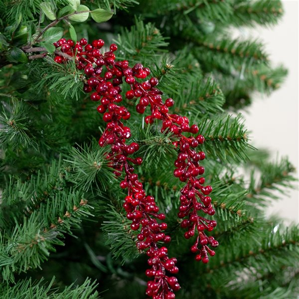 Northlight Vintage Romance Hanging Red Berries Artificial Christmas Spray - 60-in