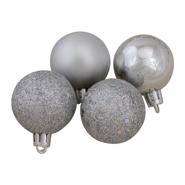 Northlight Silver Shatterproof Christmas Ball Ornaments - 1.5-in - 91-Pcs