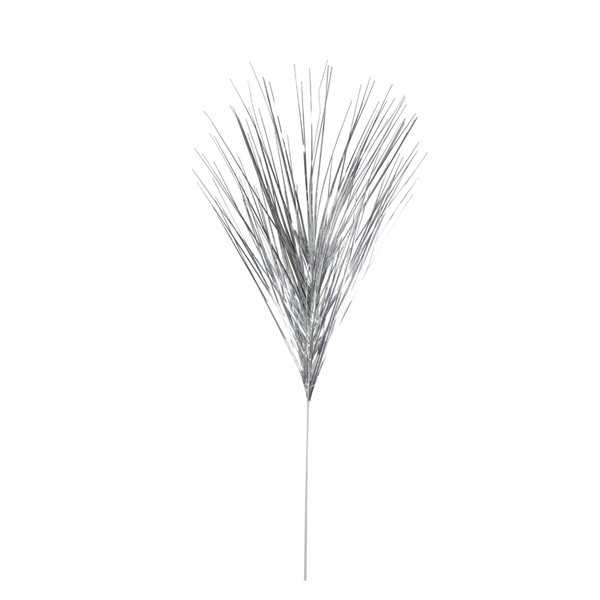 Northlight Silver Tinsel Artificial Grass Christmas Spray - 43-in