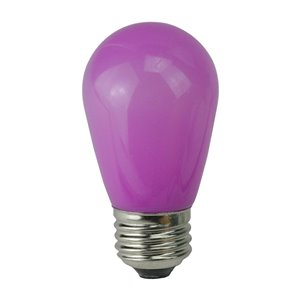 Northlight Opaque LED S14 Christmas Replacement Bulbs - Purple - Pack of 25