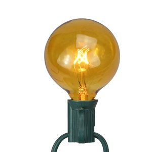 Northlight G50 Incandescent Christmas Replacement Bulbs - Amber - Pack of 25
