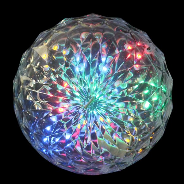 Northlight LED Lighted Hanging Crystal Sphere Outdoor Decoration - 6-in - Multi-Colour