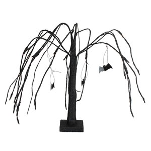 Northlight LED-Lighted Halloween Cascading Willow Tree - 24-in - Black and Orange