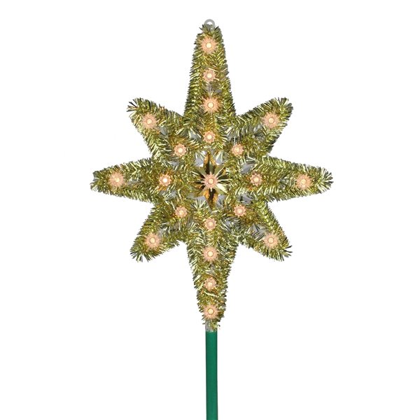Northlight Lighted Star of Bethlehem Christmas Tree Topper - Clear Lights - 21-in - Gold