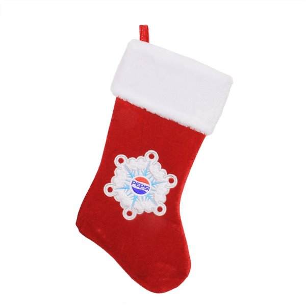 Northlight Pepsi Snowflake Embroidered Christmas Stocking - 19.25-in - Red and White