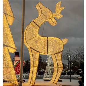 Northlight Pre-Lit Giant Commercial Grade LED Lighted Waterloo Reindeer - 14.75-ft