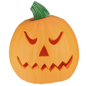 Northlight Animated Double-Sided Pumpkin Halloween Decor - 9.75-in - Orange/Green