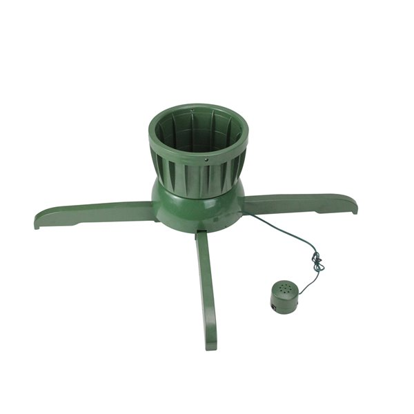 Northlight Musical Rotating Christmas Tree Stand - For Live Trees - 24-in - Green