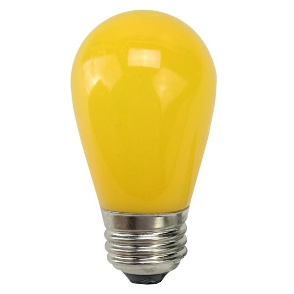 Northlight LED S14 Christmas Replacement Light Bulbs - 1.3 Watts - Opaque Yellow - Pack of 25