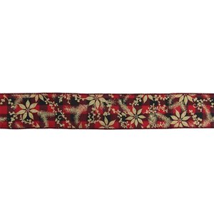 Northlight Buffalo Plaid Christmas Wired Craft Ribbon - 2.5-in x 16 Yards - Red and Black