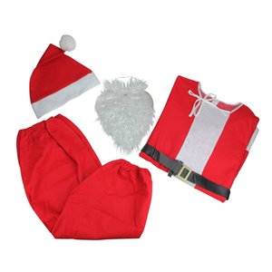 Northlight Santa Claus Unisex Adult Christmas Costume - One Size - Red/White