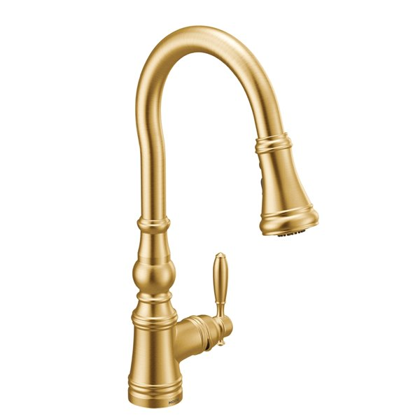 Moen Weymouth Pulldown Kitchen Faucet - Brushed Gold