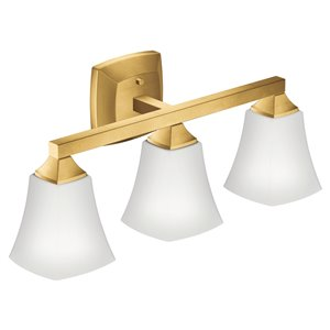 Moen Voss 3-Light Bathroom Light - 120 V - Brushed Gold
