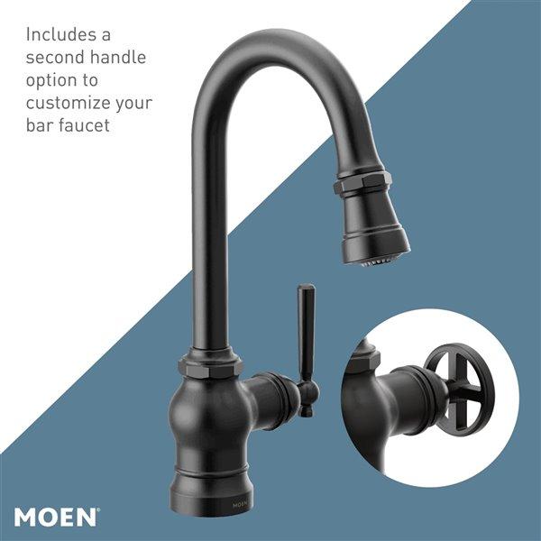 Moen Paterson Pulldown Single Mount Bar Faucet - Matte Black