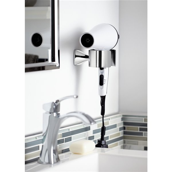 Moen Voss Hair Dryer Holder - Brushed Nickel