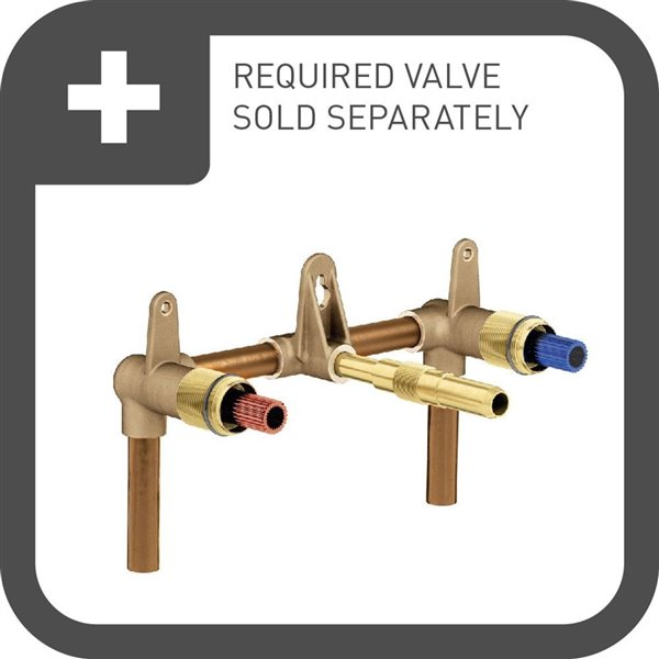 Moen Weymouth Two-Handle Wall Mount Faucet - Oil Rubbed Bronze