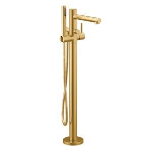 Remplisseur de baignoire avec douche à main Align de Moen, or brossé
