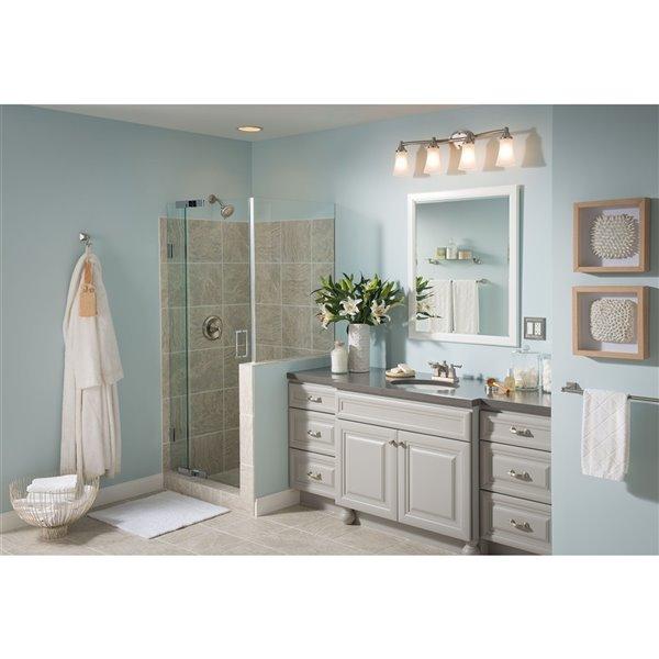 Moen Retreat Bathroom Vanity Shelf 5 In X 22 In Brushed Nickel Dn8390bn Rona
