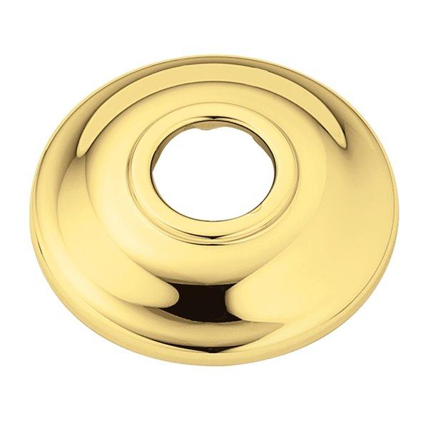 Polished Brass Shower Arm Flange