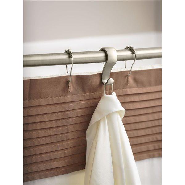 Moen Shower Curtain Rings - 12-Pack - Brushed Nickel