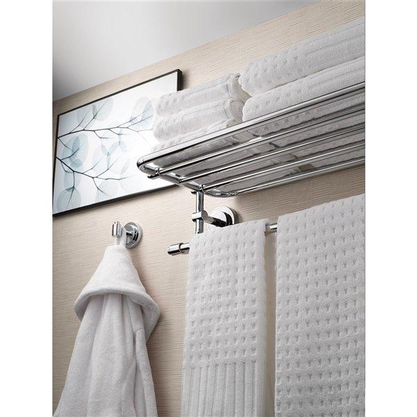 Moen Iso Towel Shelf with 6 Towel Bars - 5.5-in - Chrome