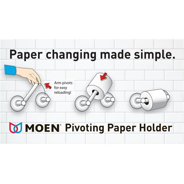 Moen Weymouth Brushed Pivoting Paper Holder - Gold