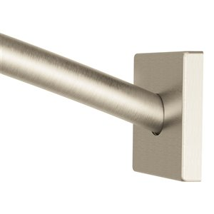 Moen Triva Adjustable Curved Shower Rod - Brushed Nickel