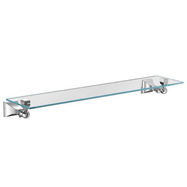 Moen Retreat Bathroom Vanity Shelf - 6-in x 22-in - Chrome