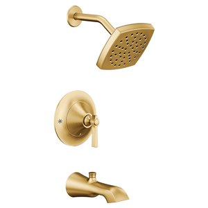 Moen Flara Posi-Temp Tub/Shower Faucet - Brushed Gold