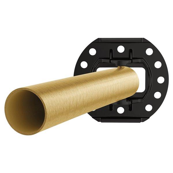 Moen Curved Adjustable Shower Rod - Brushed Gold