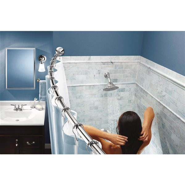 Moen Tension Curved Shower Rod - Chrome