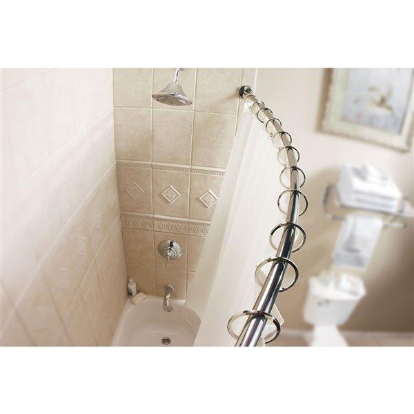 Moen Curved Adjustable Shower Rod - Brushed Nickel