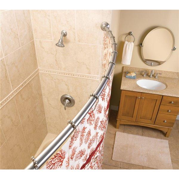 Moen Old World Curved Shower Rod - 5 ft. - Bronze
