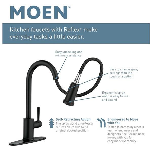 Moen Arbor Pulldown Kitchen Faucet - Matte Black
