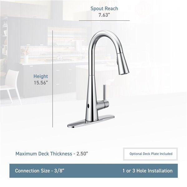 Moen Sleek Pulldown Kitchen Faucet - Chrome
