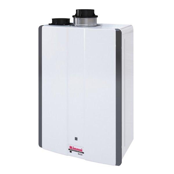 Chauffe-eau sans réservoir haut rendement de Rinnai, 130k BTU, 6,5 gpm