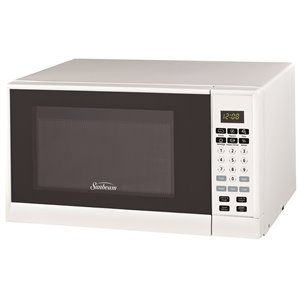 Sunbeam 0.9 cu. Ft. 900 watts Counterop Microwave (White)