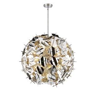 Luminaire suspendu Branam de Z-Lite à 13 ampoules, chrome