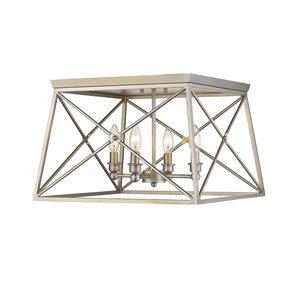 Plafonnier Trestle de Z-Lite à 4 Ampoules, 18 po x 18 po