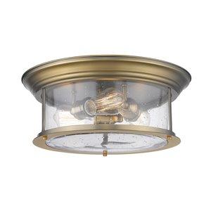 Plafonnier Sonna de Z-Lite à 3 ampoules, 15,5 po x 15,5 po