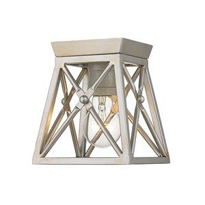 Plafonnier Trestle de Z-Lite à 1 Ampoules, 6 po x 6 po