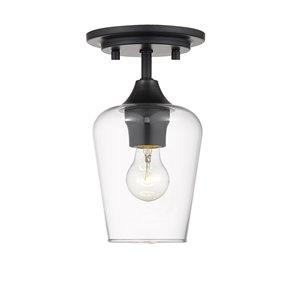 Plafonnier Joliet de Z-Lite à 1 Ampoule, noir mat, 5,5 po x 5,5 po