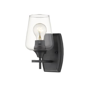 Z-Lite Joliet 1 Light Wall Sconce - Matte Black - 6.5-in x 9.5-in x 5-in