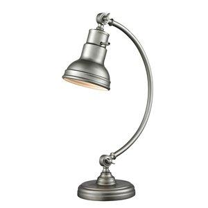 Lampe de table à 1 lumière Z-Lite Stuart au fini argent bruni, 20 po